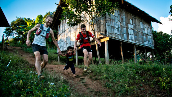 Tribe running thailand jungle